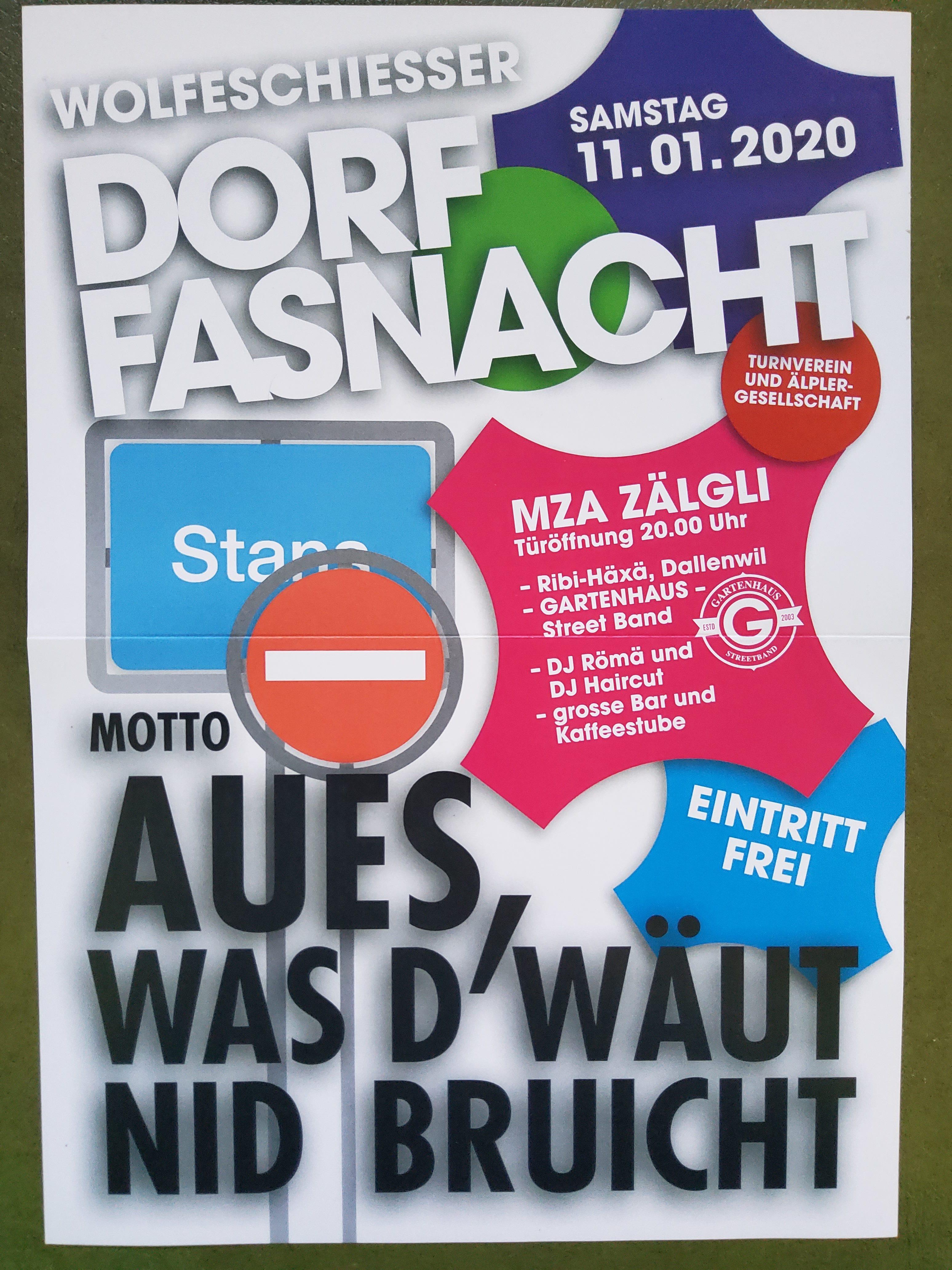 2020 Dorffasnacht