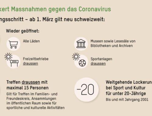 Informationen für den Vereins- und Freizeitsport im Kanton Nidwalden ab 01.03.2021