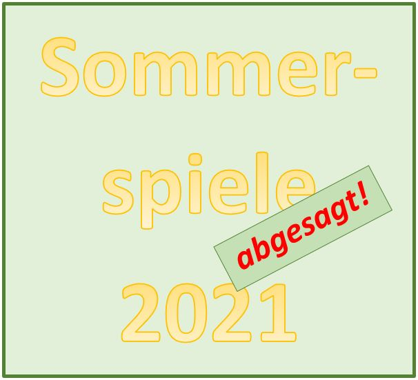 Sommerspiele 2021 abgesagt
